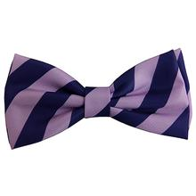 Huxley & Kent Franklin Dog Bow Tie Collar Attachment - Purple & Blue Stripe