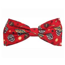 Huxley & Kent Pet Bow Tie Collar Attachment - Red Skulls