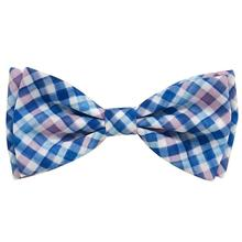 Huxley & Kent Dog and Cat Bow Tie Collar Attachment - Purple Check