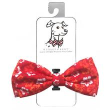 Huxley & Kent Dog Bow Tie Collar Attachment - Red Hibiscus