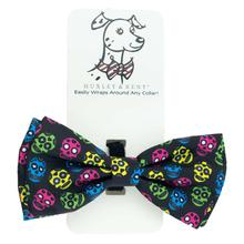 Huxley & Kent Dog and Cat Bow Tie Collar Attachment - Sugar Skulls