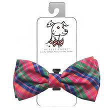 Huxley & Kent Dog and Cat Bow Tie Collar Attachment - Sweet Tart Madras