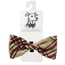 Huxley & Kent Dog Bow Tie Collar Attachment - Tan Plaid