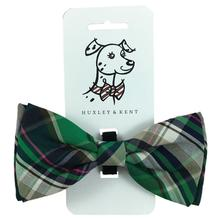 Huxley & Kent Dog and Cat Bow Tie Collar Attachment - Green Madras