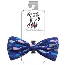 Huxley & Kent Dog and Cat Bow Tie Collar Attachment - Whale Watch