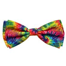 Huxley & Kent Dog and Cat Bow Tie Collar Attachment - Woodstock Tie Dye