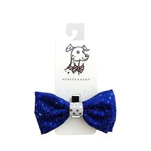 Huxley & Kent Hanukkah Dog Bow Tie - Blue Disco Dot