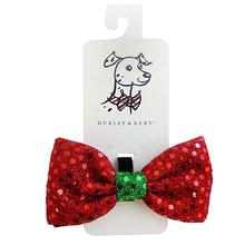 Huxley & Kent Holiday Dog Bow Tie - Red Disco Dot