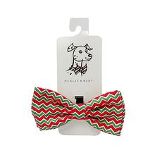 Huxley & Kent Holiday Dog Bow Tie - Christmas Chevron