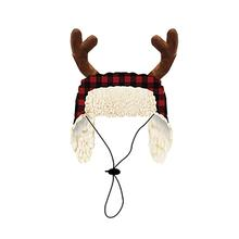 Huxley & Kent Holiday Trapper Dog Hat - Buffalo Check