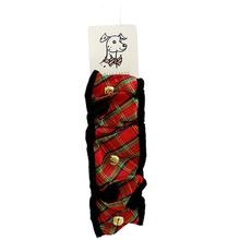 Huxley & Kent Holiday Dog Scrunchy - Red Plaid