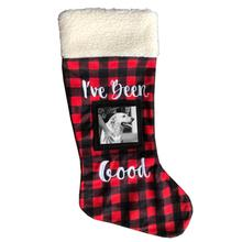 Huxley & Kent Holiday Frame Pet Stocking - Buffalo Check