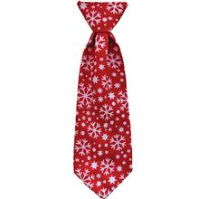 Huxley & Kent Holiday Long Tie Collar Attachment Dog Necktie - Snowflake