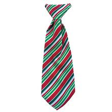 Huxley & Kent Holiday Long Tie Collar Attachment Dog Necktie - Candy Cane