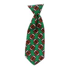 Huxley & Kent Long Tie Collar Attachment Dog Necktie - Football