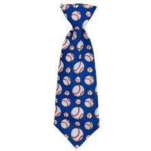 Huxley & Kent Long Tie Collar Attachment Dog Necktie - Play Ball