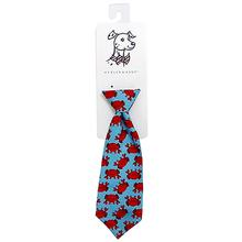 Huxley & Kent Long Tie Collar Attachment Dog Necktie - Mr Krabs