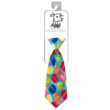 Huxley & Kent Long Tie Collar Attachment Dog Necktie - Happy