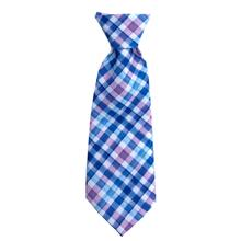 Huxley & Kent Long Tie Collar Attachment Dog Necktie - Purple Check