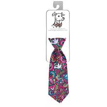 Huxley & Kent Long Tie Collar Attachment Dog Necktie - Pop Art