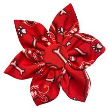 Huxley & Kent Pinwheel Dog and Cat Collar Attachment - Bone-Dana Red