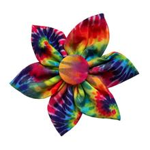 Huxley & Kent Pinwheel Dog and Cat Collar Attachment - Woodstock Tie Dye