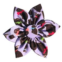 Huxley & Kent Pinwheel Dog and Cat Collar Attachment - Chocolate Bunny