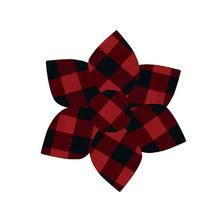 Huxley & Kent Pinwheel Holiday Pet Collar Attachment - Buffalo Check
