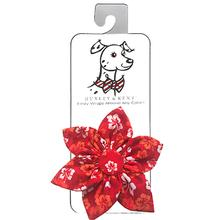 Huxley & Kent Pinwheel Pet Collar Attachment - Red Hibiscus