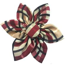 Huxley & Kent Pinwheel Pet Collar Attachment - Tan Plaid