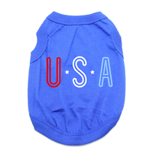 USA Dog Shirt - Blue