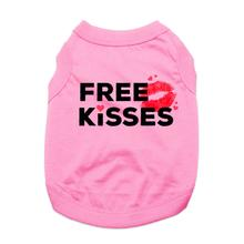 Free Kisses Dog Shirt - Light Pink