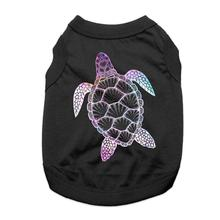 Galaxy Sea Turtle Dog Shirt - Black