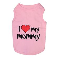 I Love Mommy Dog Tank - Pink