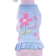 I Love My Dad Embroidered Dog Dress by Cha-Cha Couture - Blue