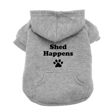 Shed Happens Dog Hoodie - Gray