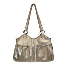 Gold Croc Metro Tassel Dog Carrier by Petote