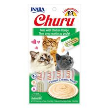 Inaba Churu Puree Grain-Free Cat Treats - Tuna & Chicken