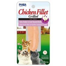 Inaba Grilled Chicken Fillet Grain Free Cat Treat - Extra Tender in Crab Broth