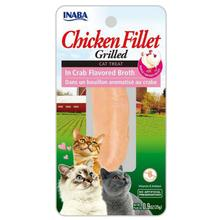 Inaba Grilled Chicken Fillet Grain Free Cat Treat - Crab Broth