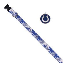 Indianapolis Colts Team Camo Dog Collar and Tag by Yellow Dog