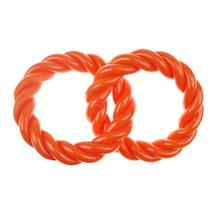 Infinity TPR 2 Rings Dog Toy - Orange