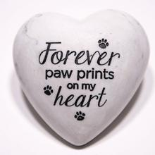 Inspirational Stone Paperweight - Forever Paw Prints on my Heart