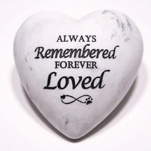 Inspirational Stone Paperweight - Always Remembered Forever Loved