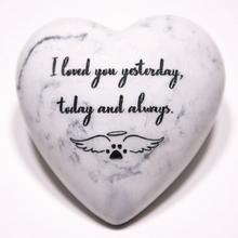 Inspirational Stone Paperweight - I Loved You Yesterday, Today and Always