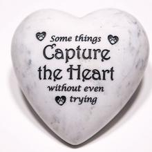 Inspirational Stone Paperweight - Some Things Capture the Heart...