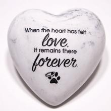 Inspirational Stone Paperweight - When the heart has felt love it remains...