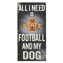 Iowa State Football and My Dog Wood Sign