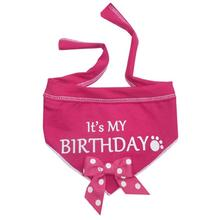 It's My Birthday Dog Bandana Scarf - Pink