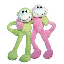 Itty and Bitty Two Furrs Dog Toy - Pastel Monkeys